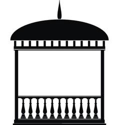 rotunda arbour black vector image