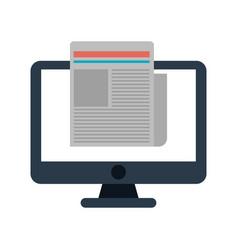 computer technology digital document work vector image