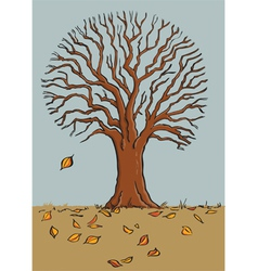 fall tree vector image vector image