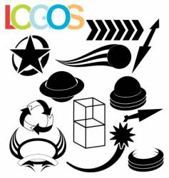 simple logos vector image