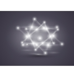 Spatial technological shape polygonal black and vector image vector image