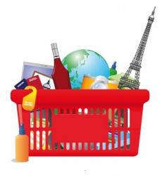 vacation shopping cart vector image vector image
