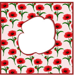 A frame in the form of a poppy vector