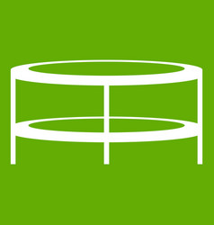 a round coffee table icon green vector image