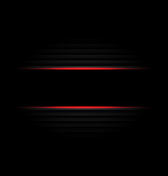 abstract black banner red light design modern vector image