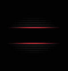 Abstract black banner red light design modern vector