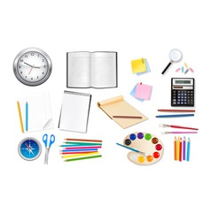 Back to school supples group set vector