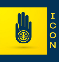 blue symbol jainism or jain dharma icon vector image