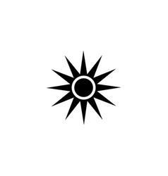bright sun flat icon vector image