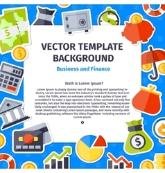 Business and office background vector image