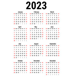 calendar for 2023 vector image