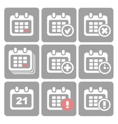 Calendar Icons event add delete progress vector