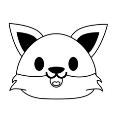 Cat cute animal cartoon icon image vector