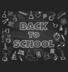 chalk board back to school backdrop vector image