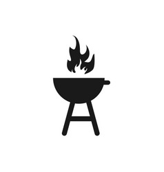 charcoal grill barbeque icon design template vector image