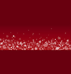 Christmas doodles background vector
