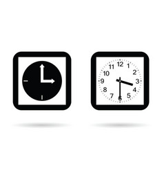 clock square ancient set in black and white color vector image