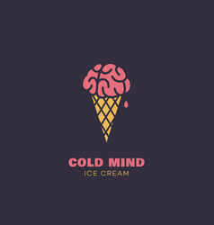 Cold mind vector