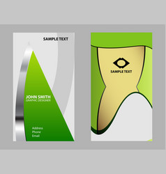 collection vertical business cards element vector image