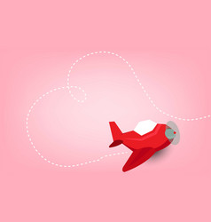 cute cartoon drives airplane and plane flew into vector image