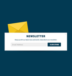 email subscribe online newsletter submit button vector image