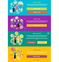 Family with children kids people concept vector