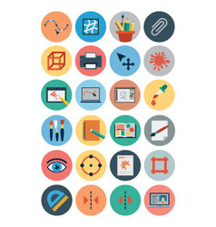 Flat Design Icons 3 vector image