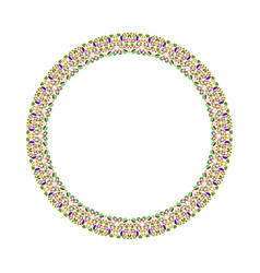 Geometrical abstract gravel mosaic round wreath vector