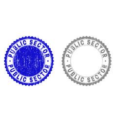 Grunge public sector textured watermarks vector