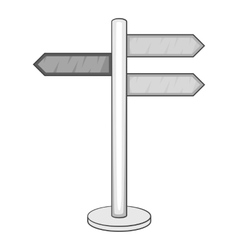 Guide sign icon gray monochrome style vector
