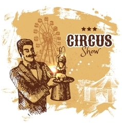 Hand drawn sketch circus and amusement vector