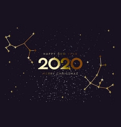 Happy new 2020 year and merry christmas vector