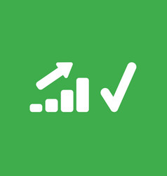 icon concept of sales bar graph moving up with vector image