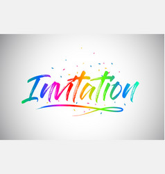 Invitation creative vetor word text with vector
