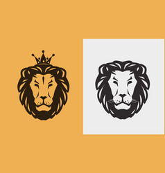 lion logo or emblem animal wildlife icon vector image