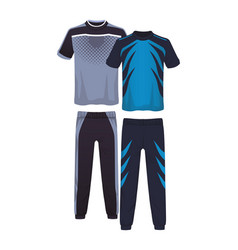 Male fitness sport suit vector