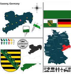 Map of Saxony vector