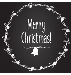 Merry Christmas background with hand drawn vector image