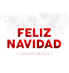 Merry christmas new year spanish language quote vector