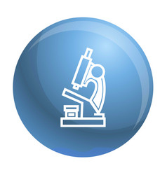 microscope icon simple style vector image