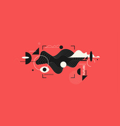 modern backgrounds with abstract elements and vector image