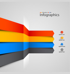 Modern colorful infographics design vector
