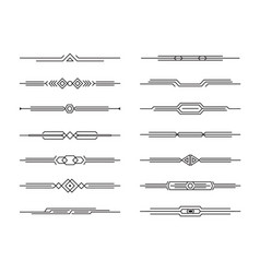 modern dividers set geometric lines for vector image