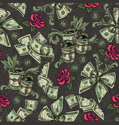 Money colorful seamless pattern vector