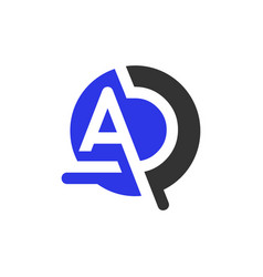 Monogram logo design with letter ad vector