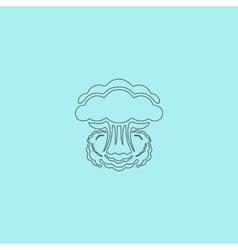 Mushroom cloud nuclear explosion silhouette vector