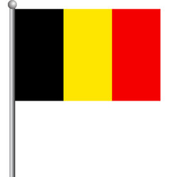 national belgium flag eps 10 vector image