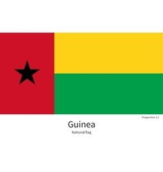 National flag of Guinea with correct proportions vector image