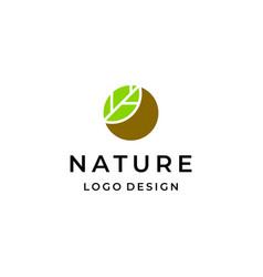 nature logo vector image