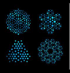 Neural networks logo company futuristic vector